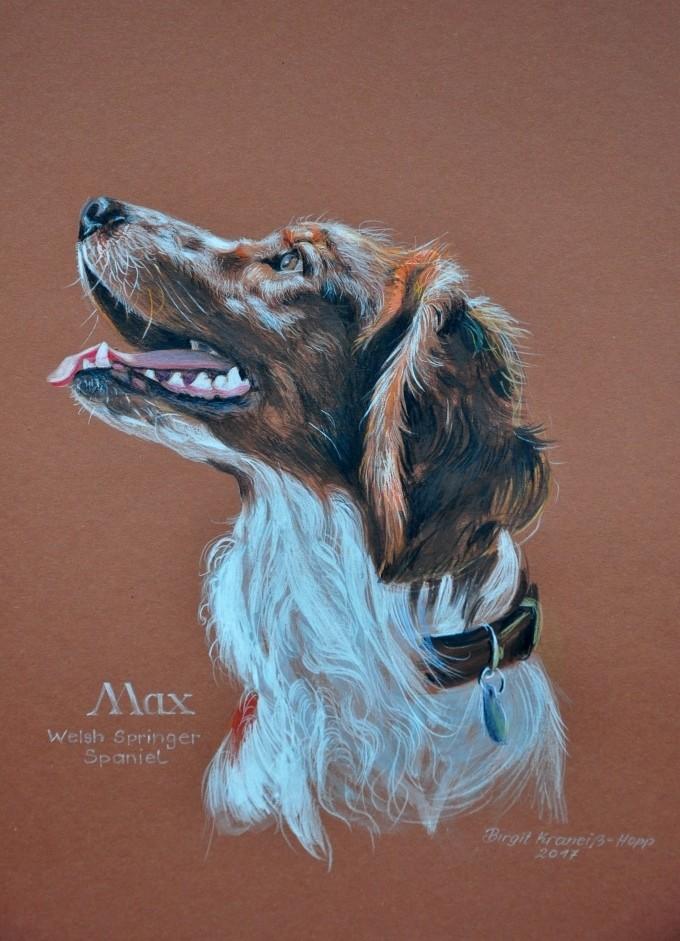 Tiermalerei, Hundeportrait