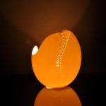 Straußeneikunst Biggi Hopp Lichtblicke mit Lichtobjekten