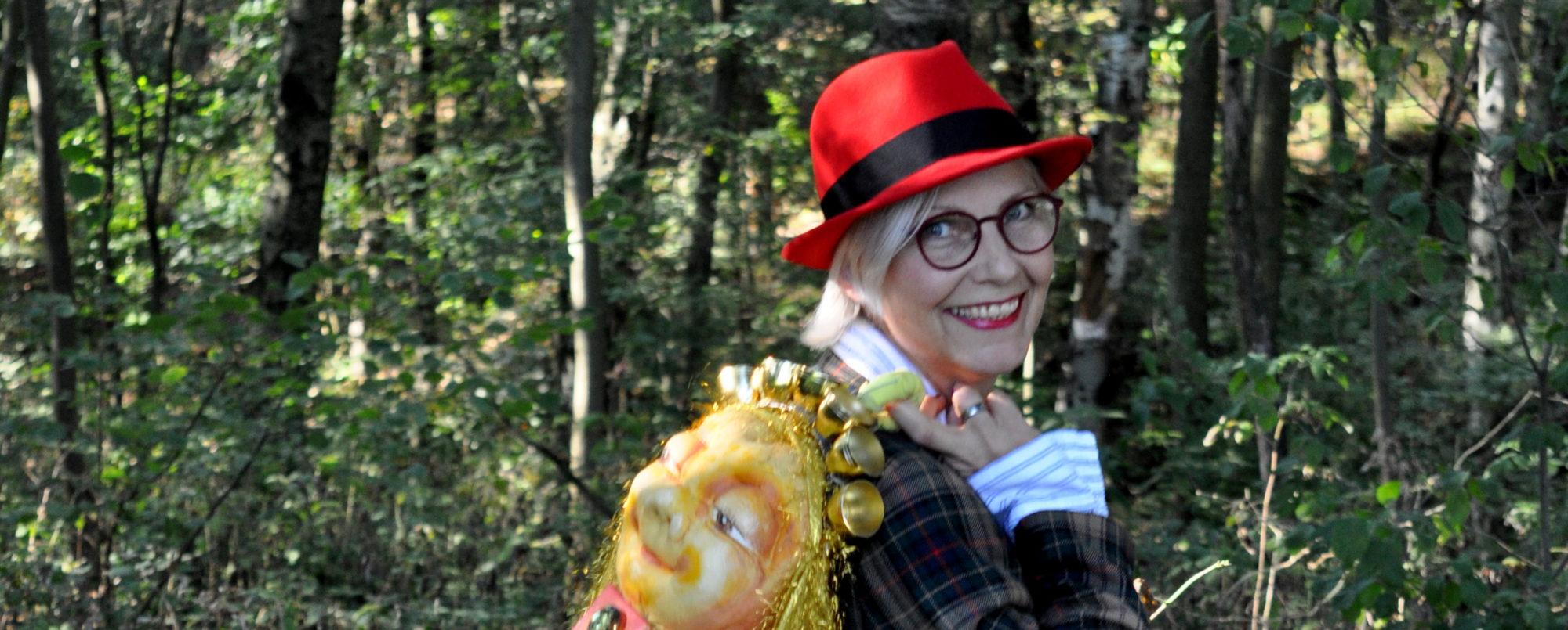 BIGGI HOPP Lebensfreude für alle mit rotem Hut