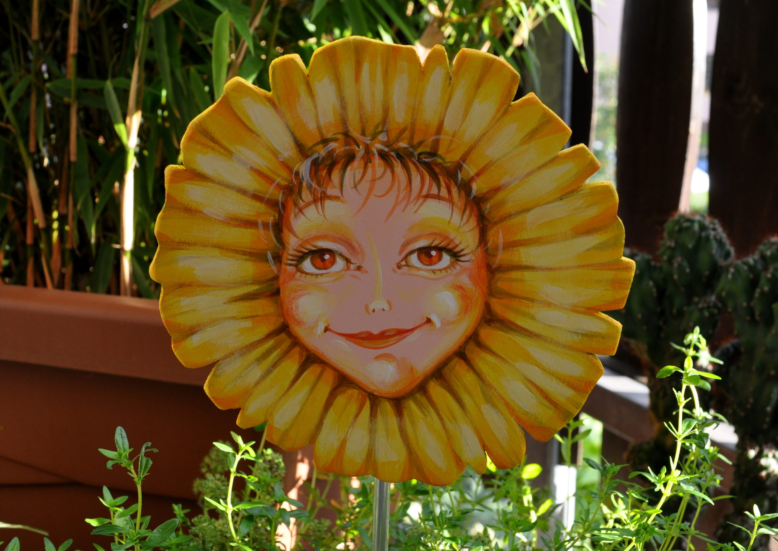 Blumenmädchen sonnenfreude
